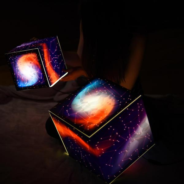 stars light cube constellations lamp