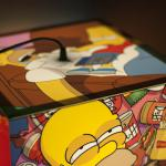 Personalized lamp with a Simpsons cartoon. You can put movies, comics, art, photos etc. on each side