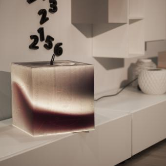 Light up your night ambient light cube lamp on a shelf. Will fit as a beautiful bedroom lighting