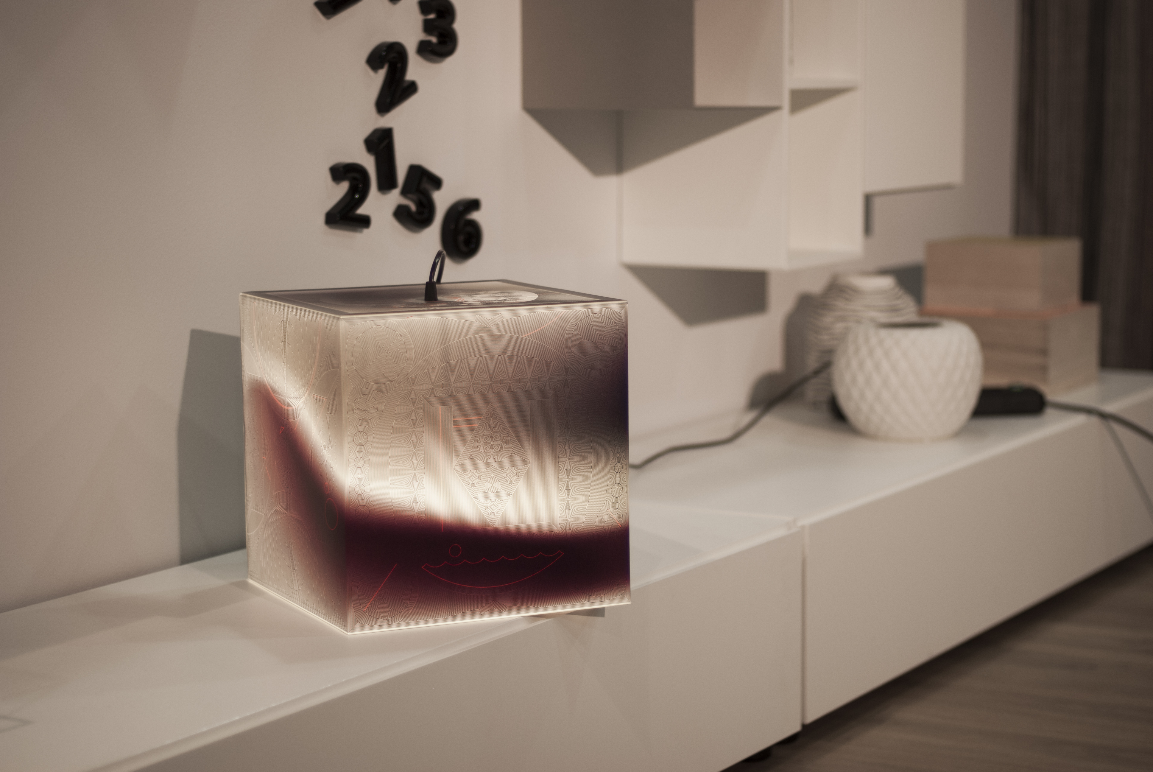 Will Fit In Any Interrior Light Up Your Night Ambient Cube Lamp On A Shelf