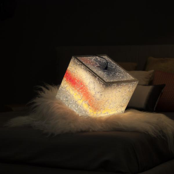 Unique lamp with snowflakes