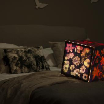 Beautiful bedroom light cube