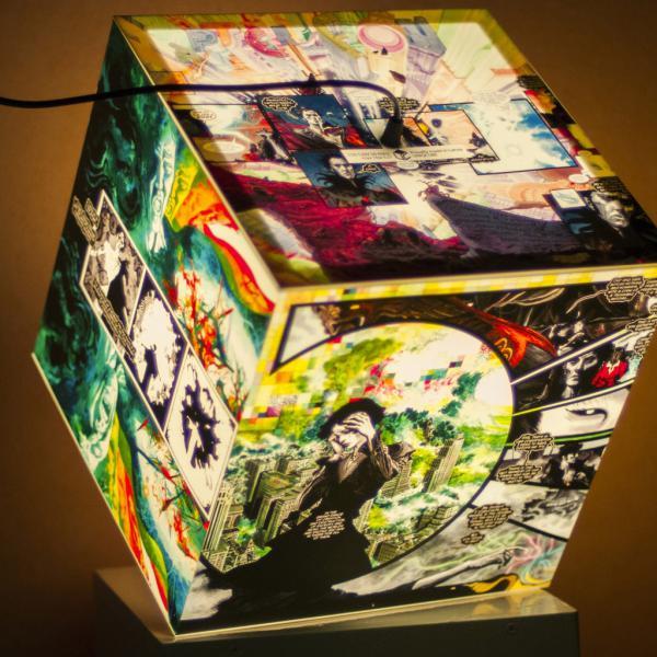 cube personalized lamp sandman comics
