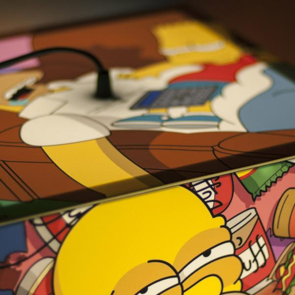 light cube personalized lamp cartoon simpsons