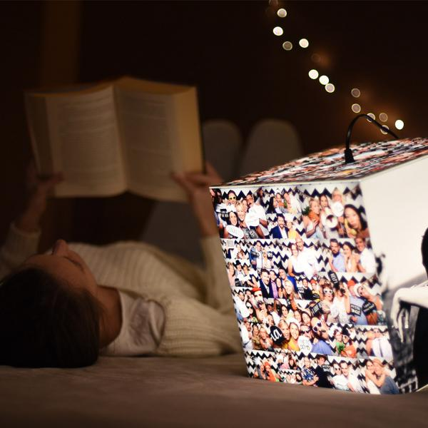 personalized lamp girl reading book