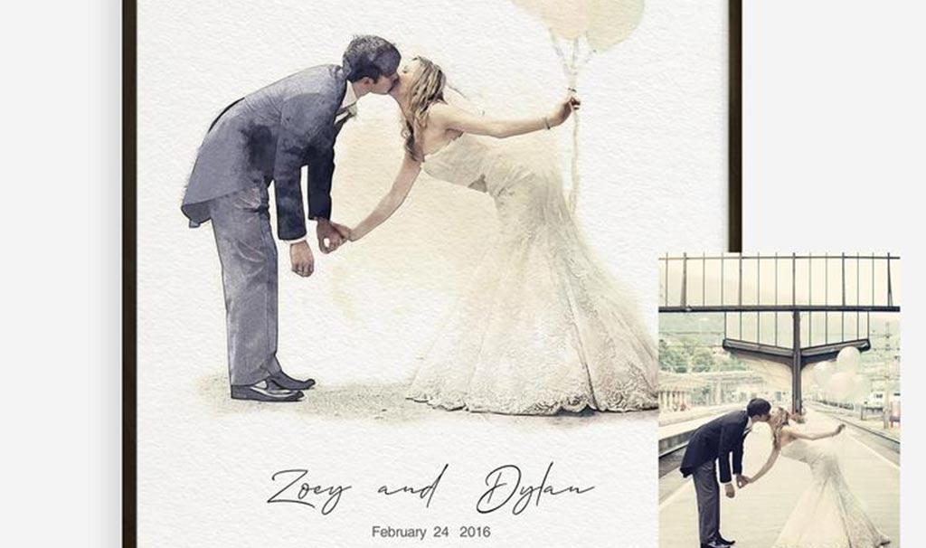 Personalized art painting for weddings