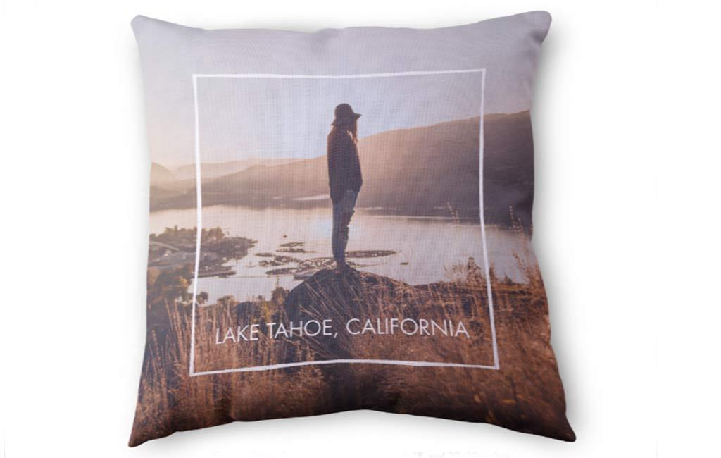 Personalized photo throw pillow